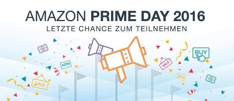 Amazon Prime Day 2016 - Jetzt als Händler teilnehmen