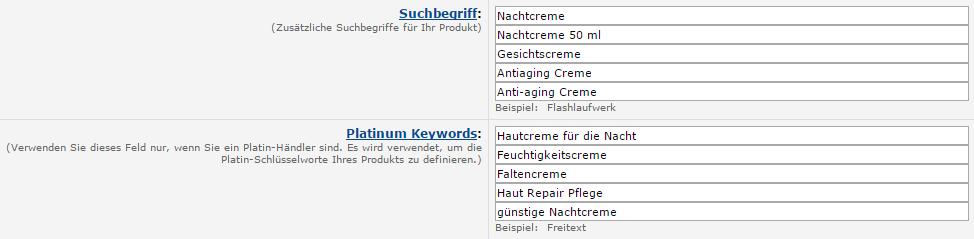 Amazon Seller Schlüsselwörter