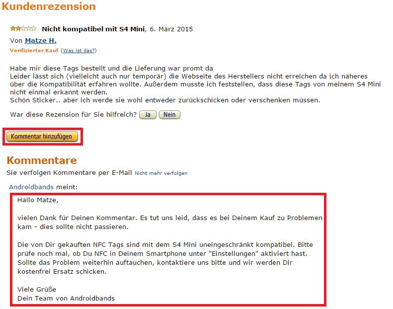 Amazon Bewertung Gegen Kostenloses Produkt