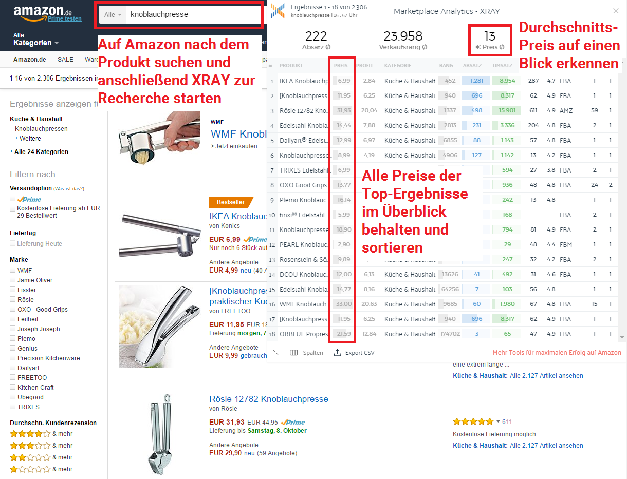 amazon fba rechner so finden sie die produkte mit dem gr ten profit marketplace analytics. Black Bedroom Furniture Sets. Home Design Ideas