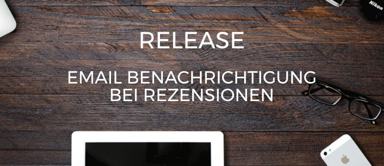 Release Email-Benachrichtigungen bei neuen Rezensionen